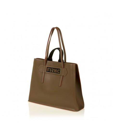 FRNC 1502 τσάντα χειρός - ώμου, μπισκοτί