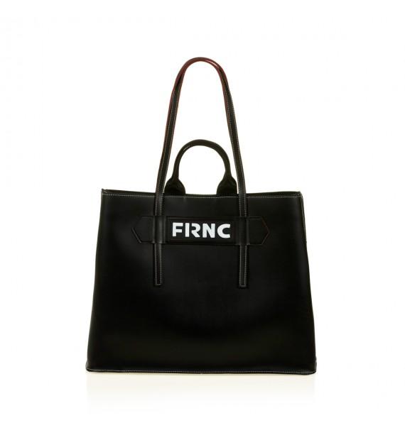 FRNC 1502 τσάντα χειρός - ώμου, μαύρο