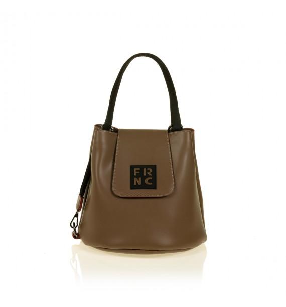 FRNC 1503 τσάντα χειρός - ώμου, μπισκοτί