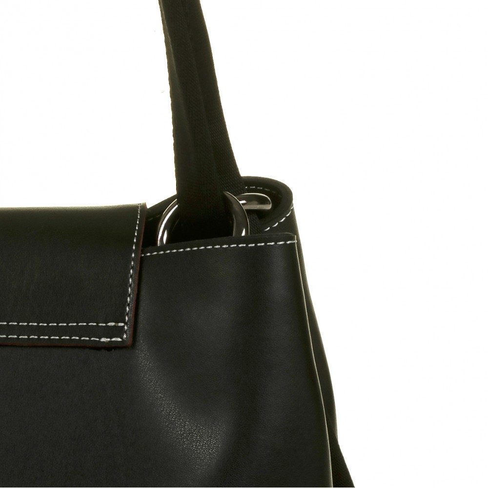FRNC 1503 τσάντα χειρός - ώμου, μαύρο