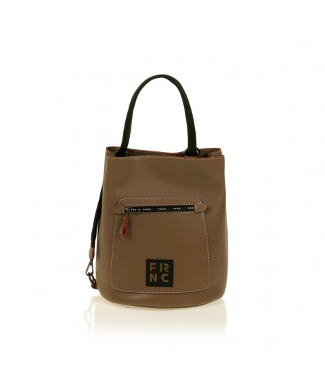 FRNC 1504 τσάντα χειρός - ώμου, μπισκοτί