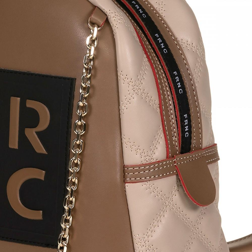 FRNC 900 backpack με διακοσμητική αλυσίδα, μπισκοτί - μπεζ