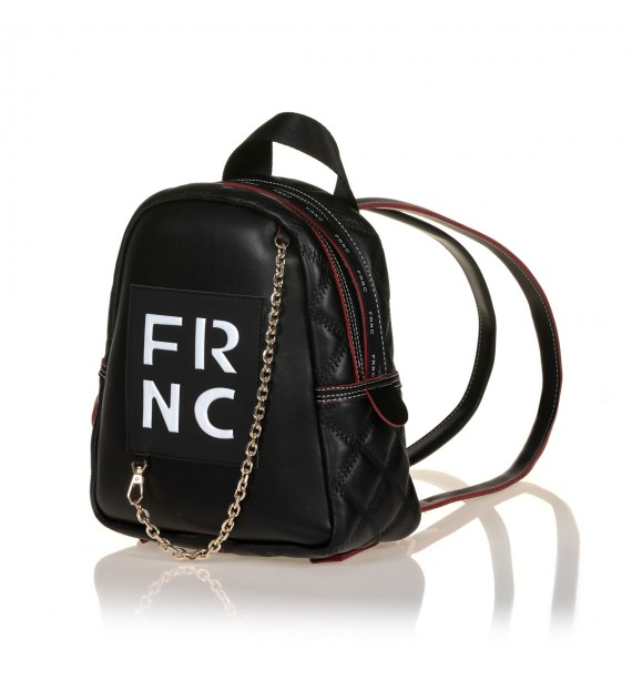 FRNC 900 backpack με διακοσμητική αλυσίδα, μαύρο