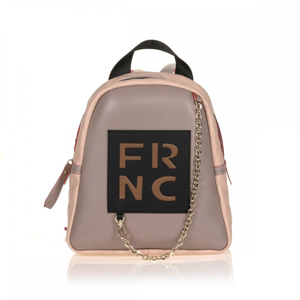 FRNC 900 backpack με διακοσμητική αλυσίδα, πάγος - πούδρα