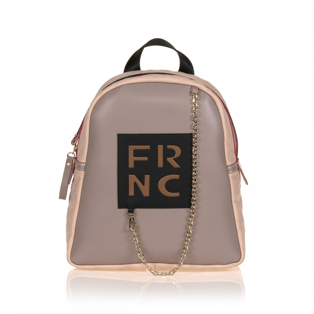 FRNC 901 backpack με διακοσμητική αλυσίδα, πάγος - πούδρα
