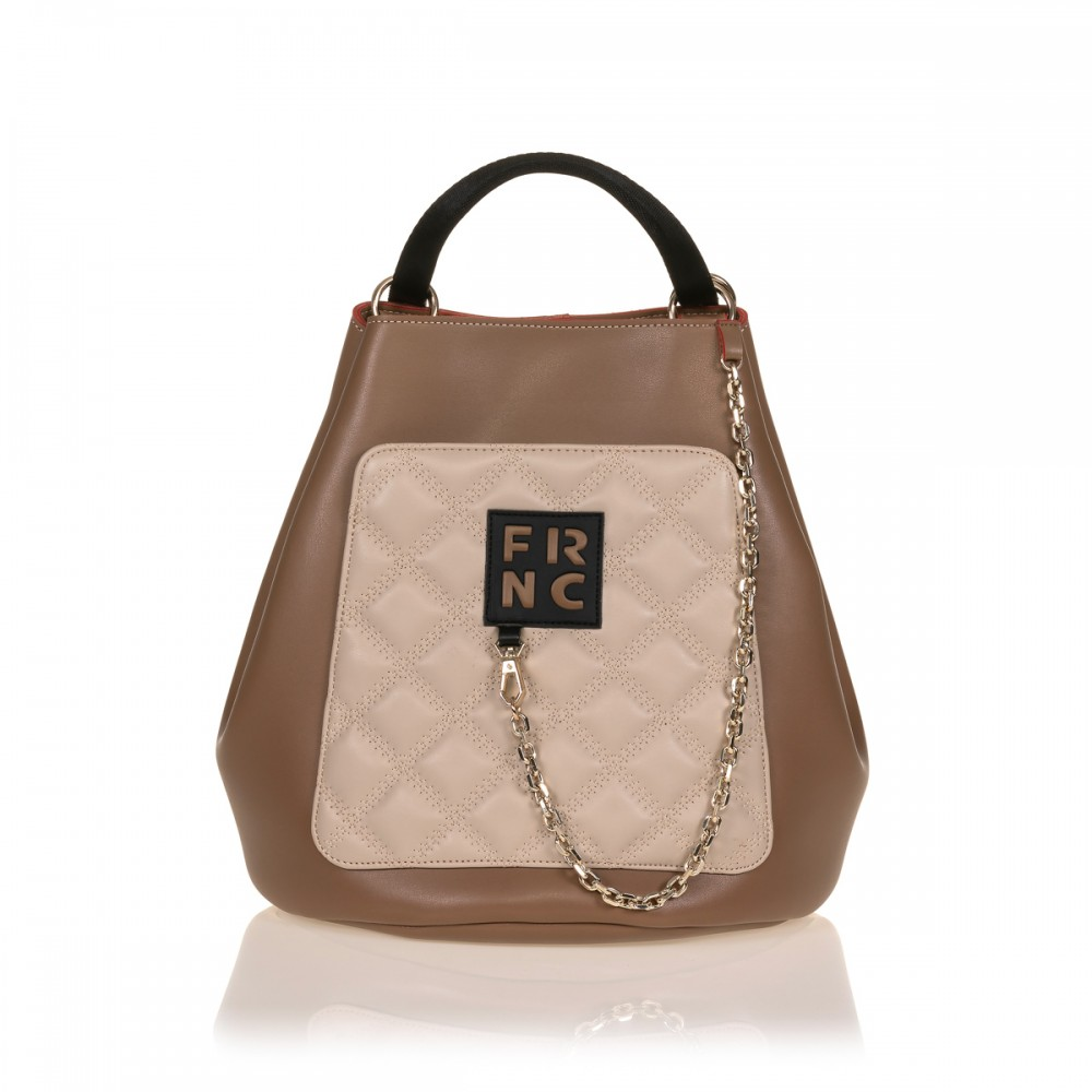 FRNC 902 πολυμορφικό backpack σε σχήμα πουγκί, μπισκοτί - μπεζ