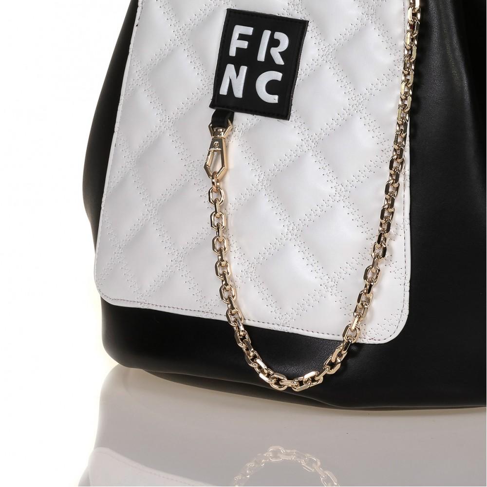 FRNC 902 πολυμορφικό backpack σε σχήμα πουγκί, μαύρο - λευκό