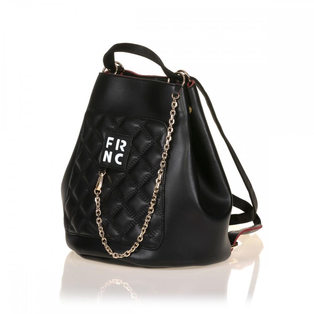 FRNC 902 πολυμορφικό backpack σε σχήμα πουγκί, μαύρο
