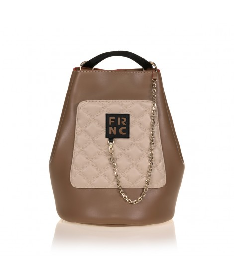 FRNC 903 πολυμορφικό backpack σε σχήμα πουγκί, μπισκοτί - μπεζ