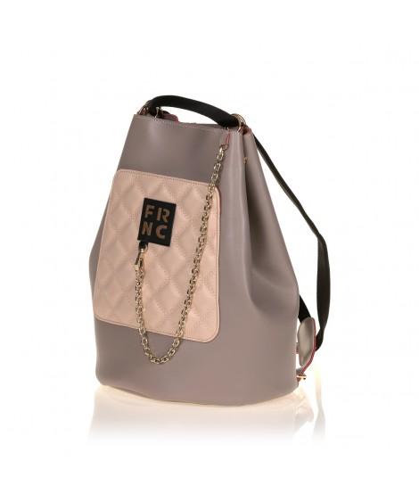 FRNC 903 πολυμορφικό backpack σε σχήμα πουγκί, πάγος - πούδρα