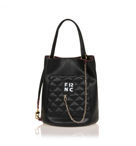 FRNC 904 πολυμορφική τσάντα χειρός σε σχήμα πουγκί, μαύρο