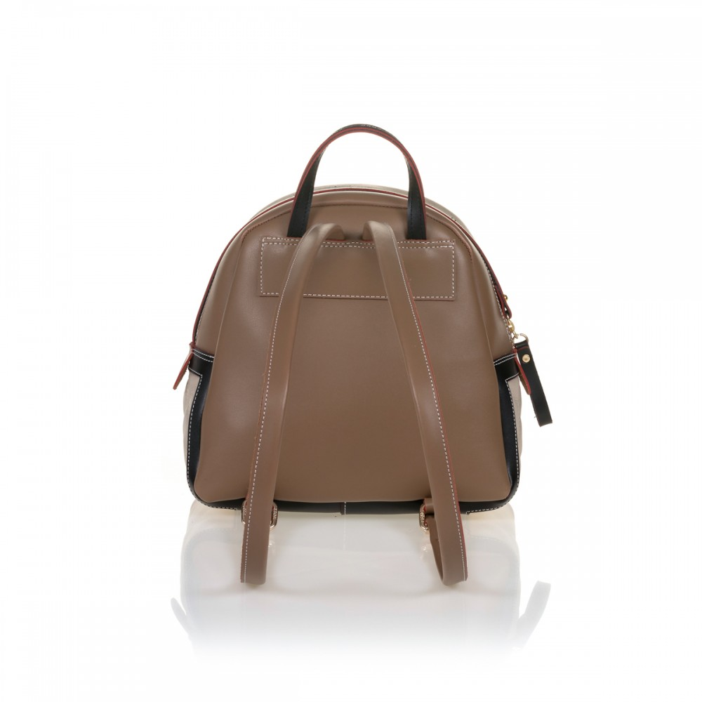 FRNC 906 backpack με εξωτερική τσέπη, μπισκοτί - μπεζ