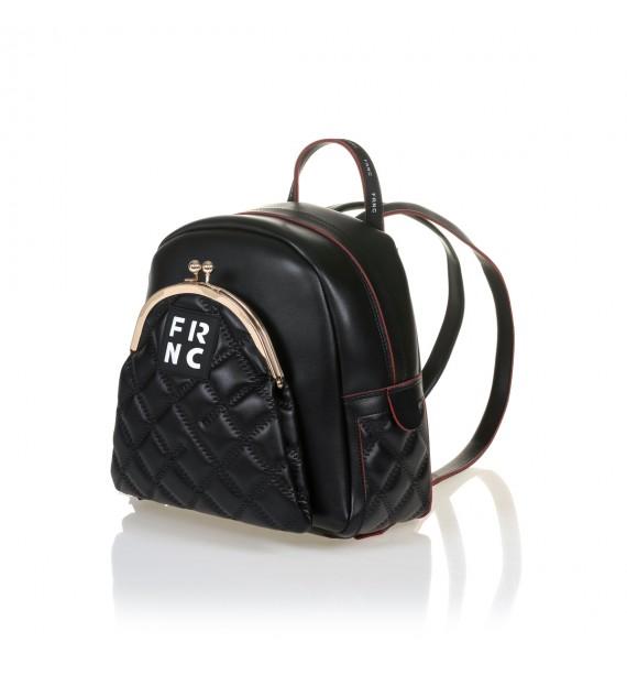 FRNC 906 backpack με εξωτερική τσέπη, μαύρο