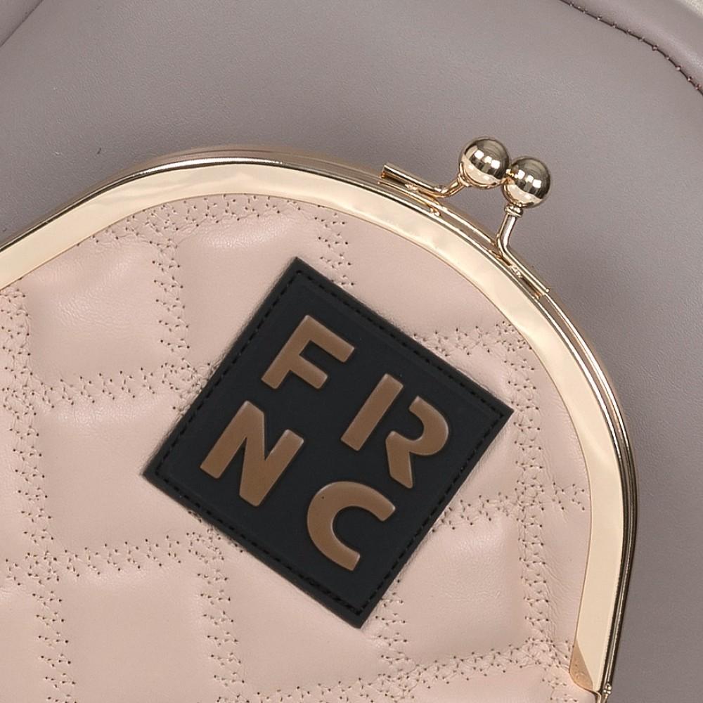 FRNC 906 backpack με εξωτερική τσέπη, πάγος - πούδρα