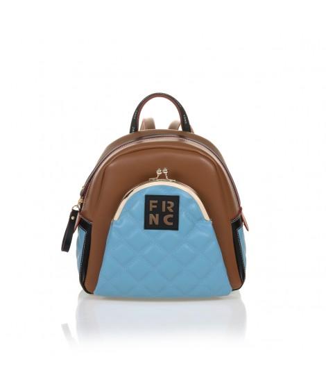 FRNC 906 backpack με εξωτερική τσέπη, ταμπά- γαλάζιο