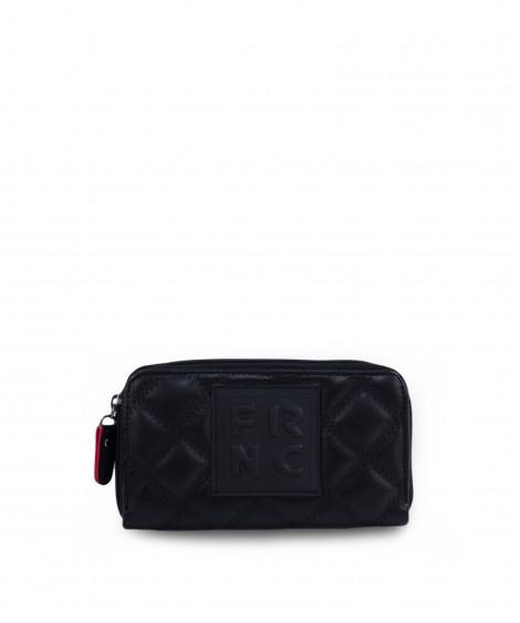 FRNC πορτοφόλι καπιτονέ μαύρο