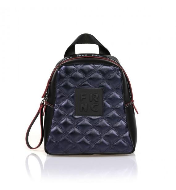 FRNC 1201-K backpack  καπιτονέ μπλε μεταλλικό