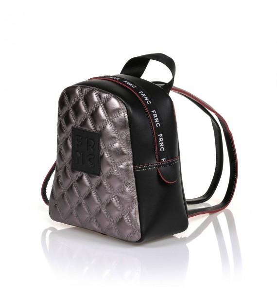 FRNC 1201-K backpack  καπιτονέ ανθρακί μεταλλικό