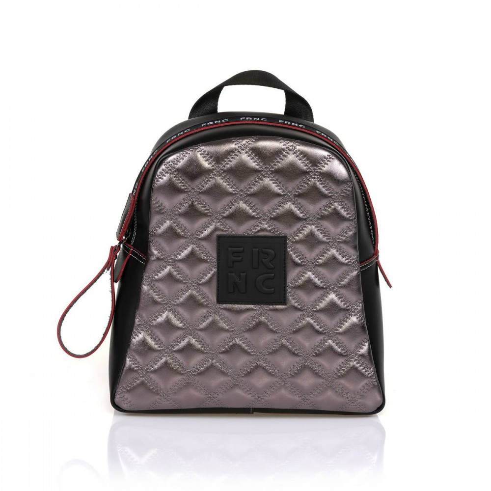 FRNC 1202-K backpack καπιτονέ ανθρακί μεταλλικό