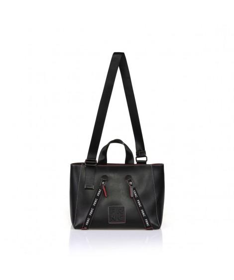 FRNC 1242 τσάντα χειρός κ ώμου μαύρη