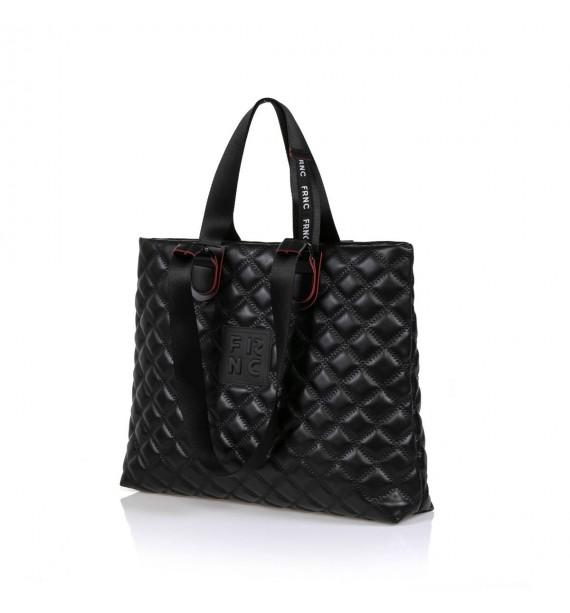 FRNC 1295 τσάντα χειρός-ώμου μαύρο.