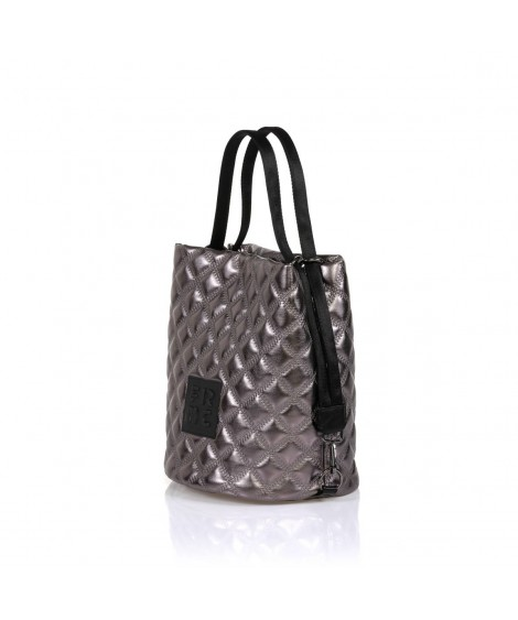 FRNC 1299 τσάντα χειρός - ώμου ανθρακί.