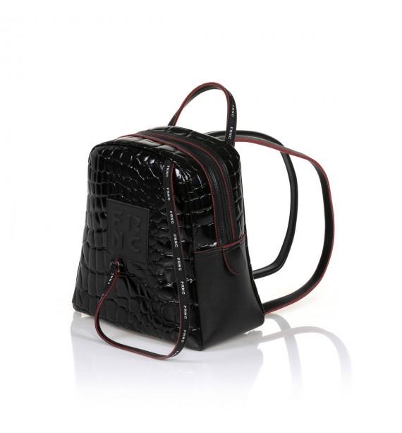 FRNC 1410 backpack croco μαύρο