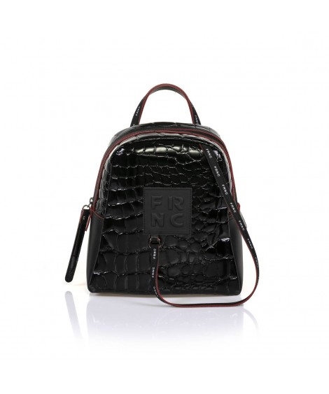 FRNC 1410 backpack croco μαύρο
