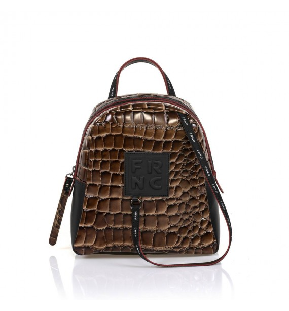 FRNC 1410 backpack croco καφέ