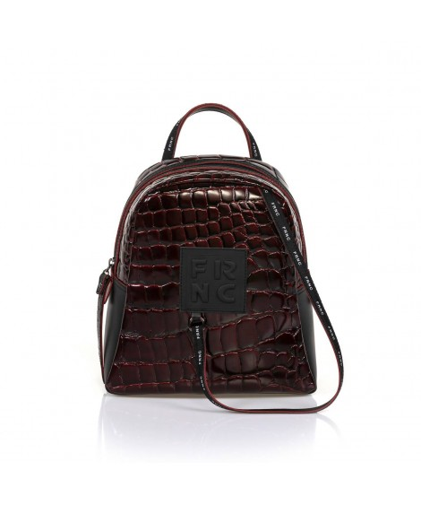 FRNC 1410 backpack croco μπορντό.