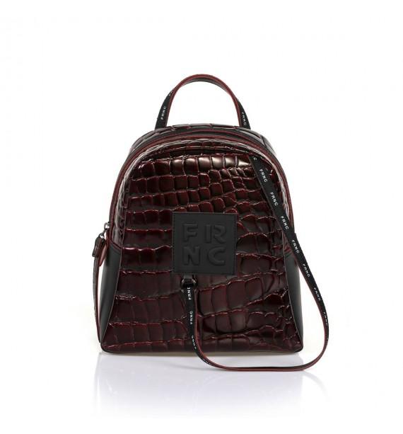 FRNC 1410 backpack croco μπορντό.