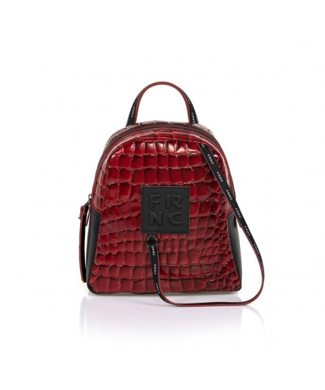 FRNC 1410 backpack croco κόκκινο