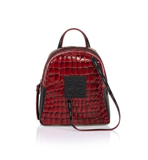 FRNC 1410 backpack croco κόκκινο