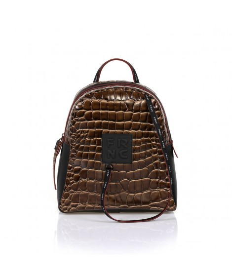FRNC 1411 backpack croco καφέ
