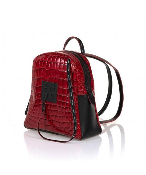 FRNC 1411 backpack croco κόκκινο