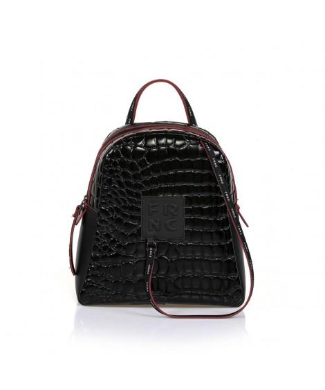 FRNC 1411 backpack croco μαύρο