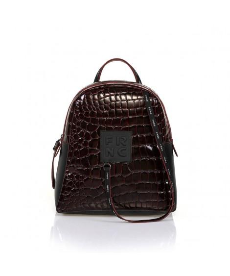 FRNC 1411 backpack croco μπορντό