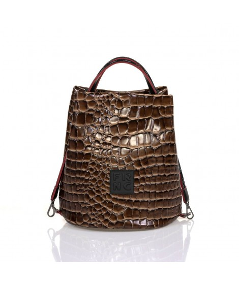 FRNC 1420 τσάντα χειρός - ώμου καφέ.