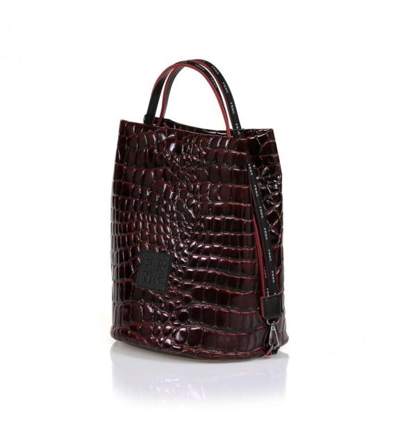 FRNC 1420 τσάντα χειρός - ώμου μπορντό.