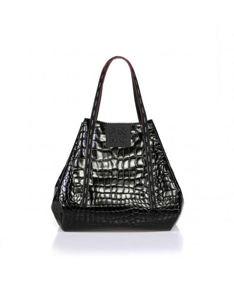 FRNC 1422 τσάντα χειρός-ώμου μαύρη