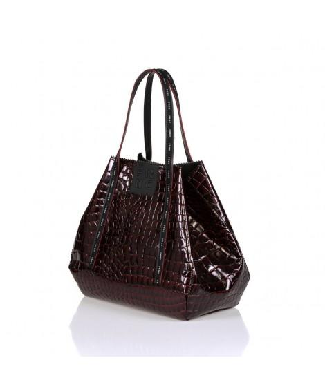 FRNC 1422 τσάντα χειρός-ώμου μπορντό.