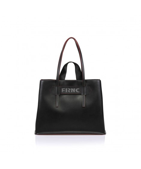 FRNC 1502 τσάντα χειρός κ ώμου μαύρη