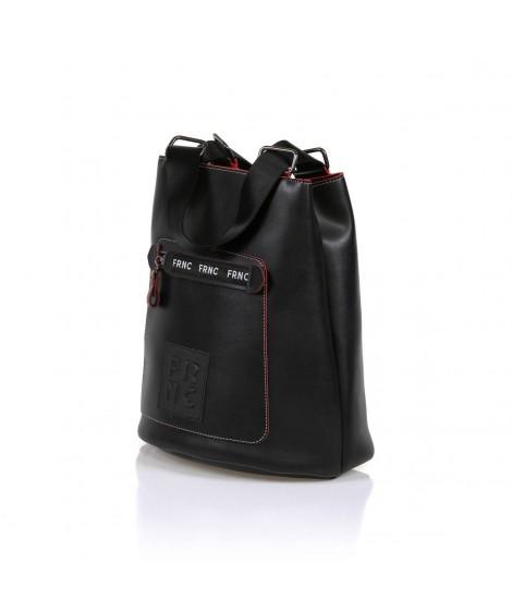 FRNC 1504 τσάντα χειρός - ώμου μαύρη