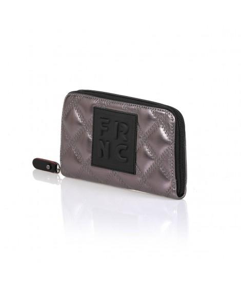 FRNC WAL005 πορτοφόλι καπιτονέ ανθρακί.
