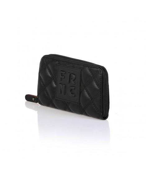 FRNC WAL005 πορτοφόλι καπιτονέ μαύρο.