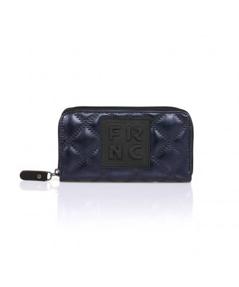 FRNC WAL005 πορτοφόλι καπιτονέ μπλέ.